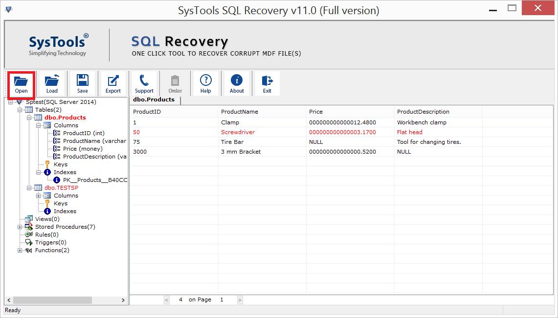 Corrupt SQL Data Recovery 11